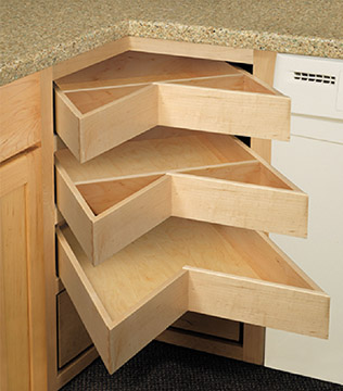 Corner Drawers Are An Attractive Alternative To The Traditional Lazy Susan  And Provide Easier Access To Cabinet Contents.